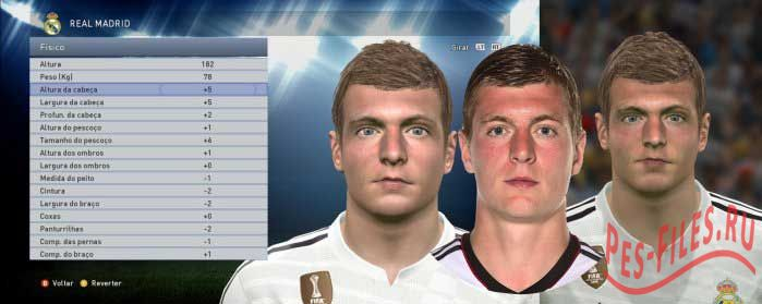 Toni Kroos Face For PES 2015
