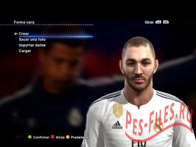 PES 2013 New Face and Hair Benzema 2015