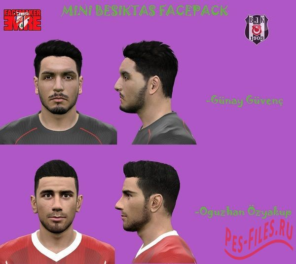Mini Besiktas Facepack