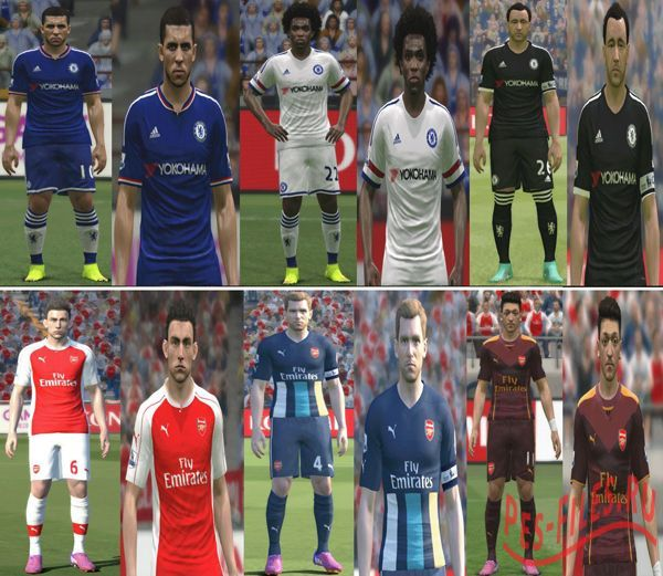Chelsea & Arsenal 2015/16 Kits