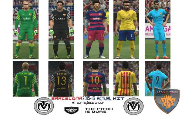 Barcelona 2015/16 Actual Kit Update 2