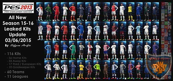 Pes 2013 All New Season 15-16 leaked kits