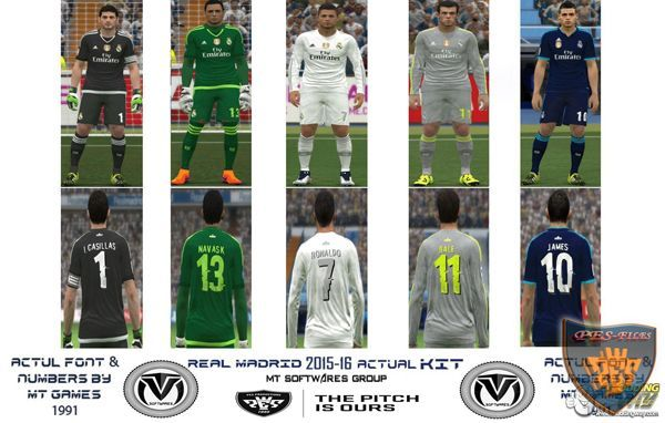 Real Madrird Actual Update 2 Kit 2015/16