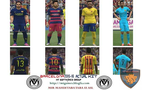 Barcelona 2015-16 Kit New Font & Number