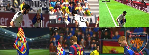 Real Madrid & Barcelona corner flag HD