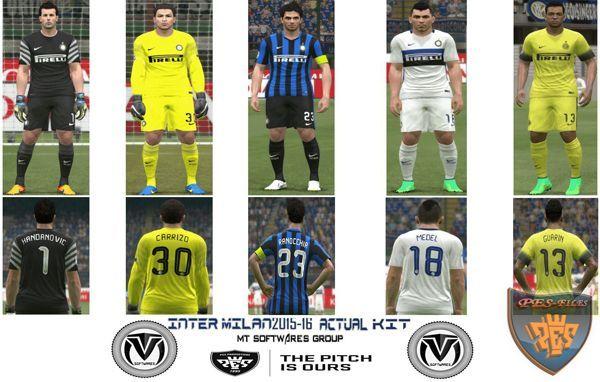 футбол 1 онлайн Update: PES 2015 Actual Inter Milan 2015/16 Update Kit, патчи и моды