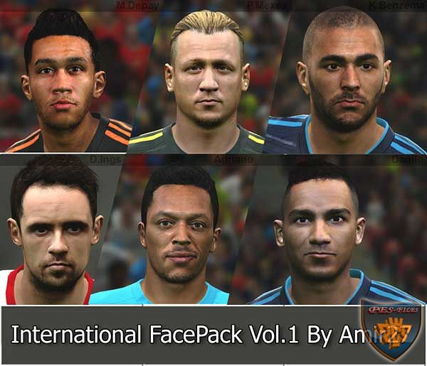PES 2015 International FacePack vol. 5