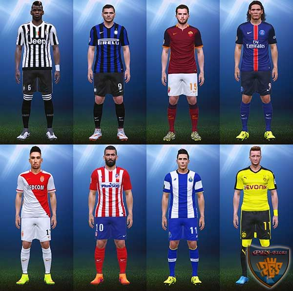 PES 2015 15/16 Home Kits Pack Version 1.1