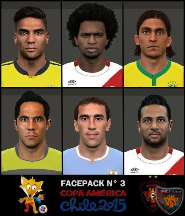 Face Pack Copa America Chile 2015 N°3