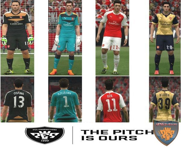 Actual Arsenal FC 2015/16 Kit