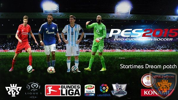 Startimes Dream patch Pes 2015 v3.0