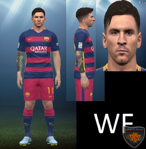Messi Face + Arm Tatto Update