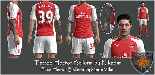 Tattoo Hector Bellerin by Nikadim