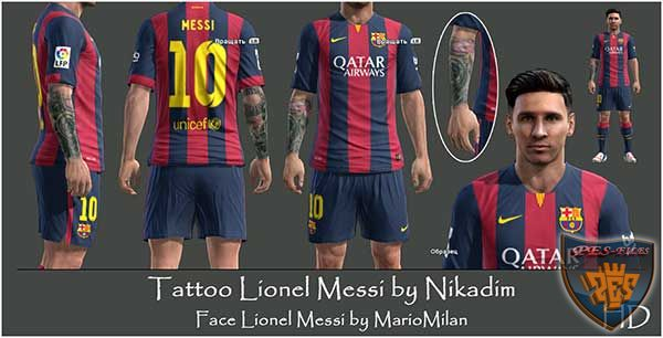 Tattoo Lionel Messi by Nikadim