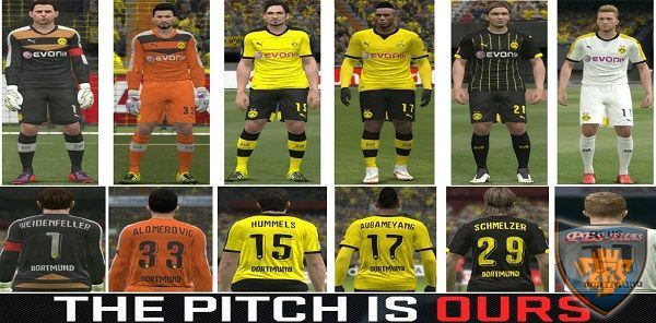 Dortmund 2015/16 New Font & Numbers