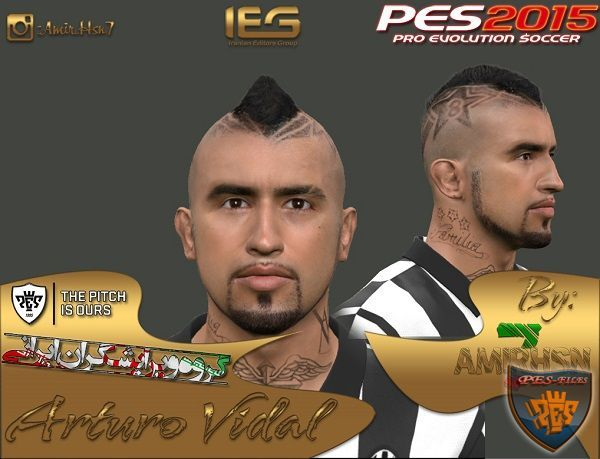 Pes 2015 Faces Arturo Vidal