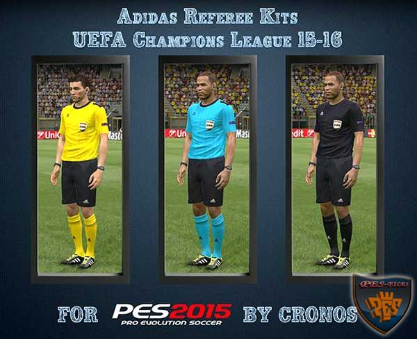 Referee Kits Adidas Uefa Champions League 15/16
