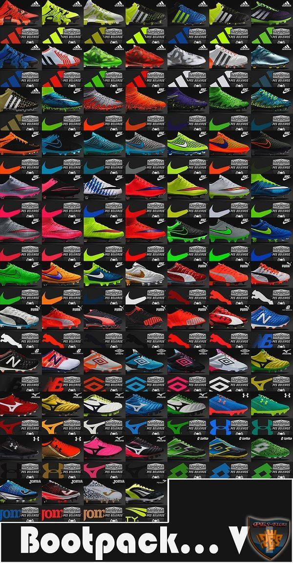 Pack of (81) Boots Pes 2013 V1 Full HD