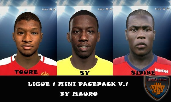 Ligue 1 Face Pack by Mauro