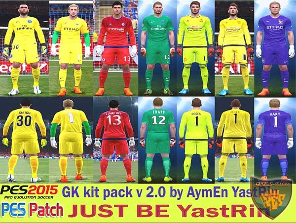 PES 2015 GK Kit Pack v2.0 by YastRin