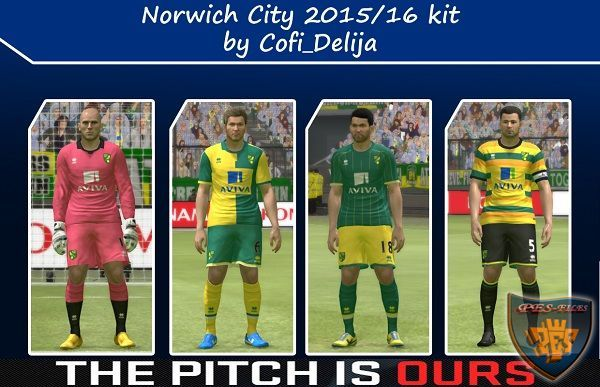 Pes 2015 Norwich City 2015/16 New Kit