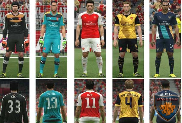 Arsenal kits 2015-16 Update 3