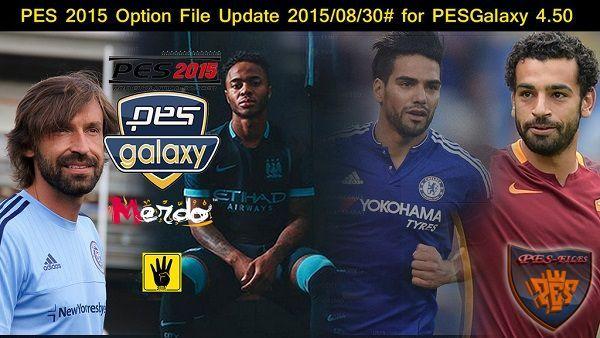 футбол 1 онлайн Update: PESGalaxy 4.50 Option File Update 30.08.2015, патчи и моды