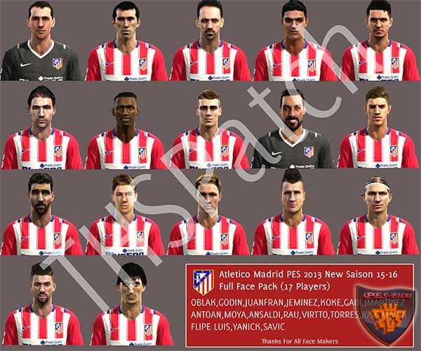 Atletico Madrid 2015-16 Full FacePack by THSPatch