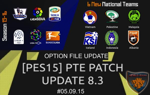 PES 2015 Option File Update PTE 8.3 05.09.15