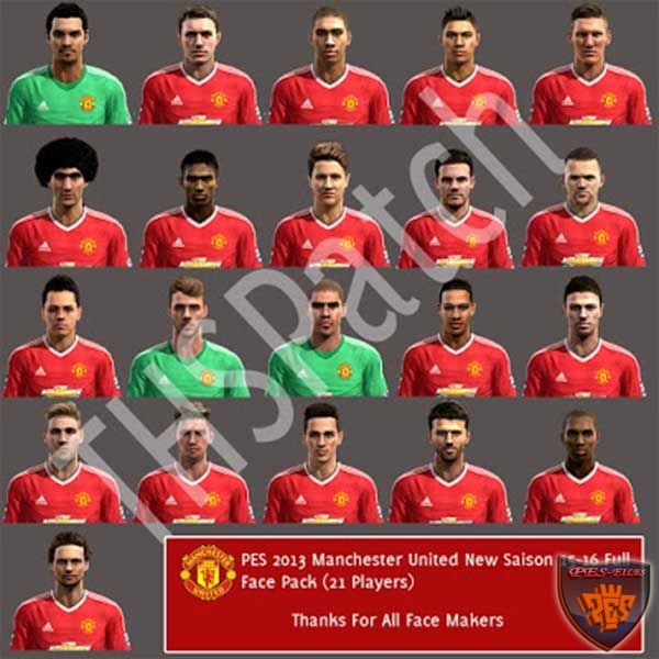 Manchester United 2015-16 Full Face Pack by THSPatch