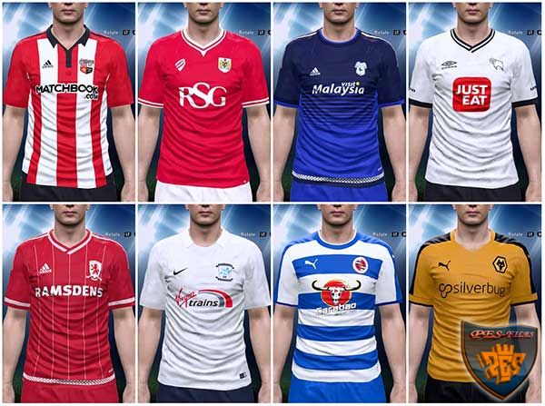 Skybet Championship 15/16 Kits Pack 8 in 1