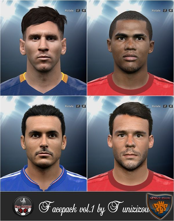 PES 2016 Facepack vol.1 by Tunizizou