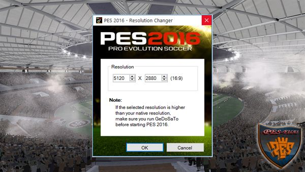PES 2016 Resolution Changer
