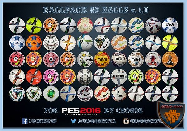 Pes 2016 Ballpack 50 Balls V.1.0 By Cronos