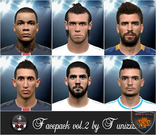 PES 2016 Facepack vol.2 by Tunizizou
