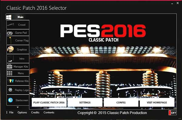 Classic Patch New Version Fix V.1.0.1 Pes 2016