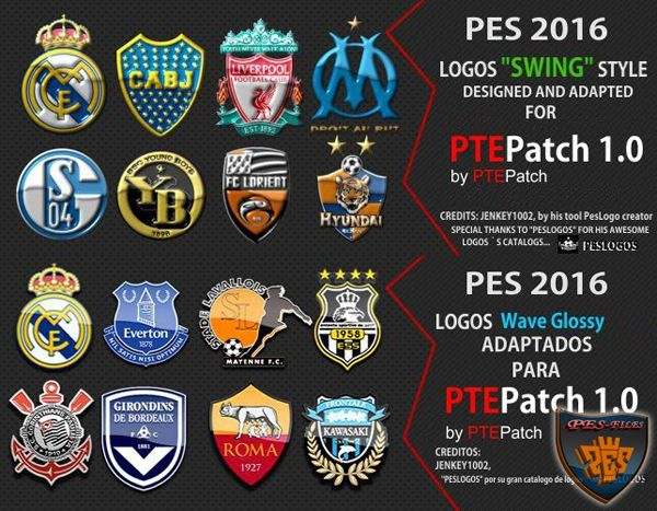 PES 2016 Logos Packs for PTEPatch Update 1.0