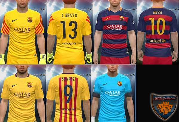 Pes 2016 Barcelona 15/16 Full Kit By Yousef