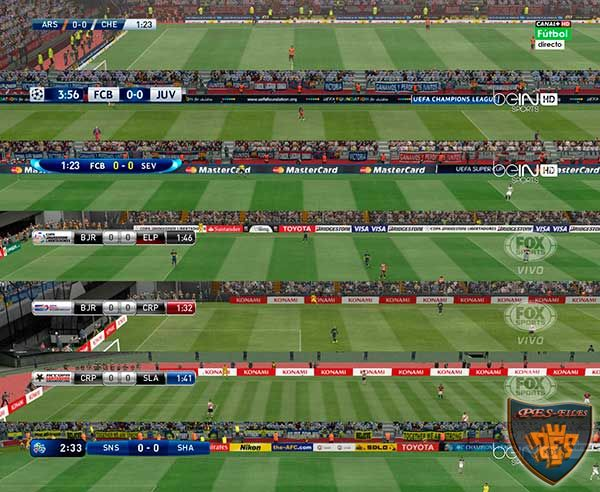 Pes 2016 Default Scoreboards + TV Logo