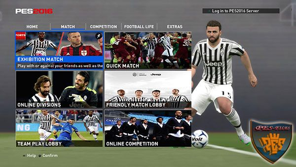 Juventus Menu Graphic For PES 2016 by Maskur