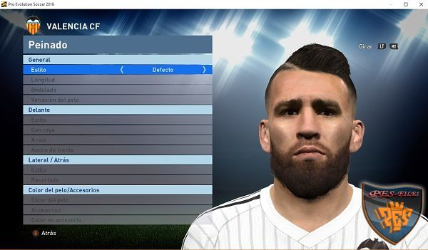 PES 2016 Otamendi Face and Hair v1.0 by Alesso