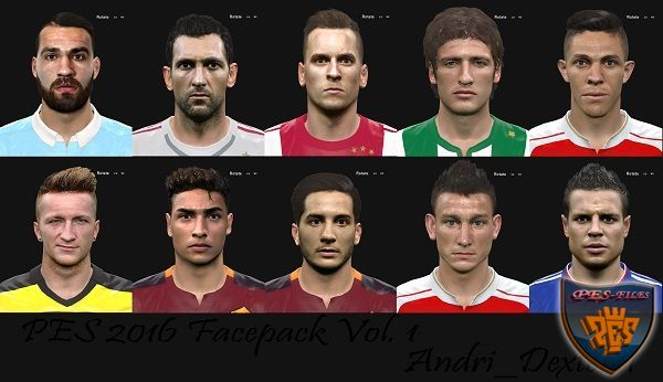 PES 2016 Facepack Vol .1 By Andri_Dexter11