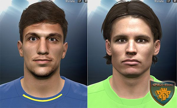 Santiago Vergini and Marwin Hitz face