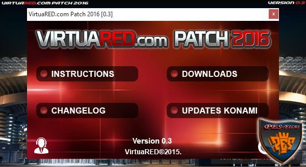 PES 2016 PC VirtuaRED.com Patch 2016 Fix 0.3