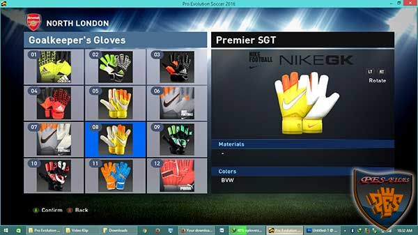 PES 2016 Gloves Pack 2015/16 Update by Killer1896