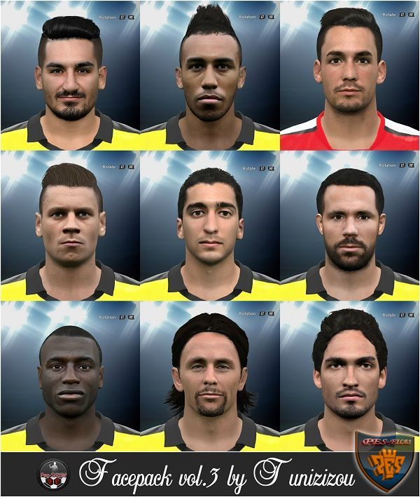 PES 2016 Facepack vol.3 by Tunizizou