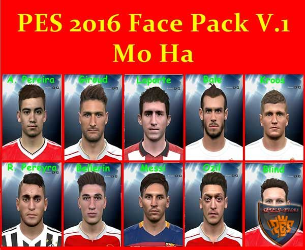 PES 2016 Face Pack V.1 by Mo Ha