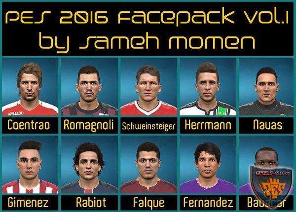 PES 2016 Facepack vol.1 by Sameh Momen