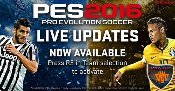Live Update For PES 2016 от 29.10.2016
