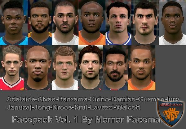 PES 2016 Facepack Vol. 1 by Memer Facemaker